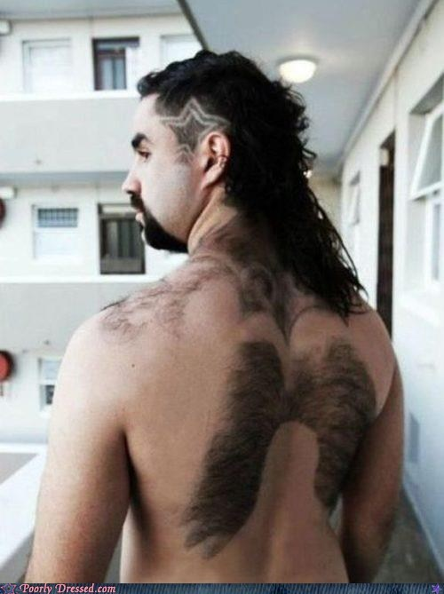 back hair hair hair design mullet star wings - 5980028928