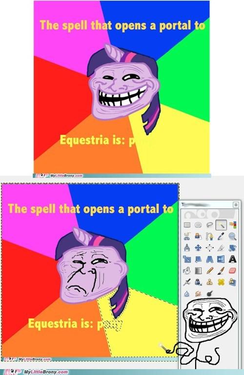 counter troll,eggheads,meme,pony,trolling