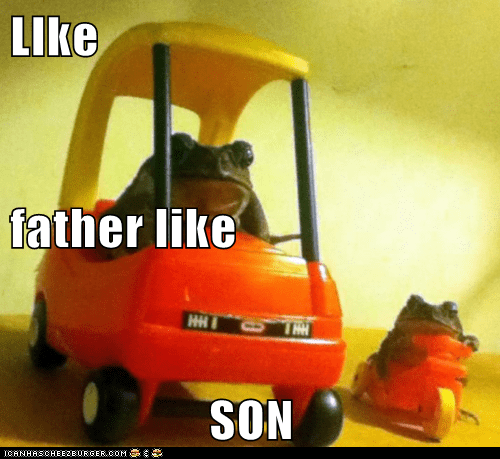 car,drive,family,Father,frog,love,same,son