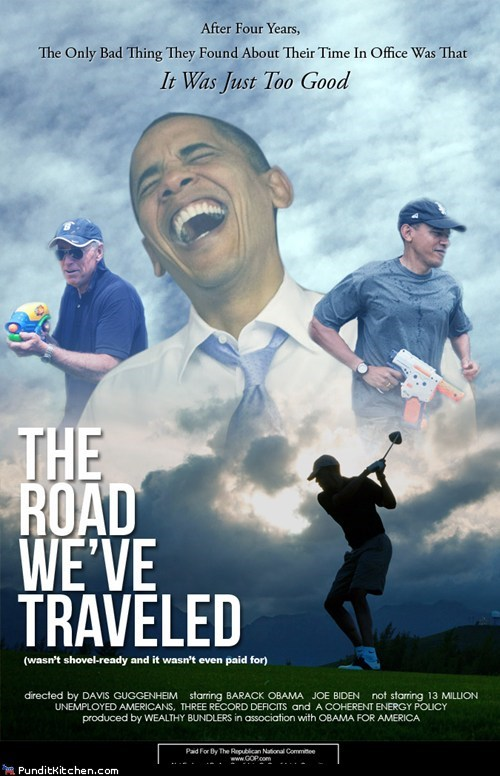 barack obama,parody,political pictures,Republicans,the-road-weve-traveled