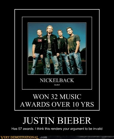 hilarious justin bieber nickleback terrible musicians worst bands - 5980710912