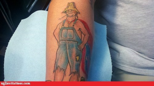 forearm tattoos rednecks super hick superheroes - 5980890624