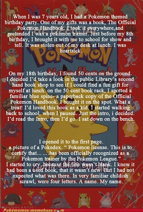 amazing best of week miracle my name Pokémemes pokemon handbook story the internets tldr - 5981099264