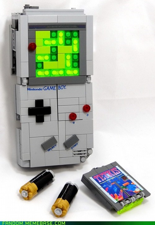 Fan Art game boy legos tetris video games