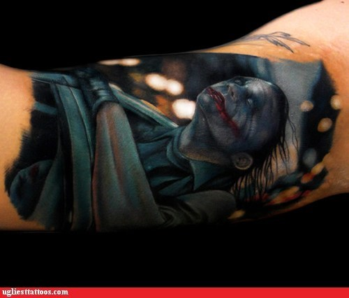 batman dark knight Hall of Fame joker tattoo WIN WHY SO SERIOUS