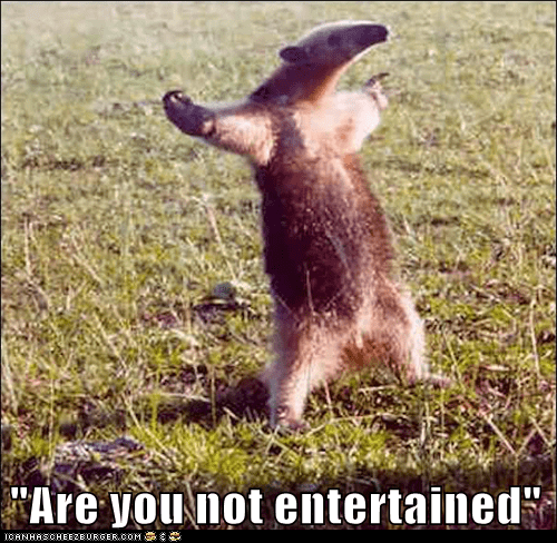 anteater crowd Gladiator Movie question quote reference