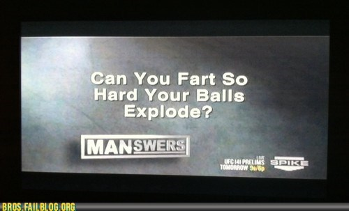 balls,fart,manswers,spike,television,The Man Show,TV