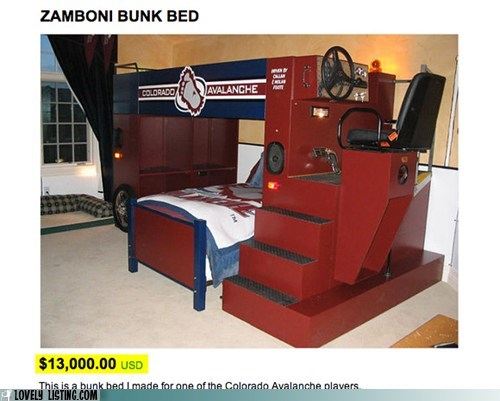 bed,bunk,Regretsy,zamboni