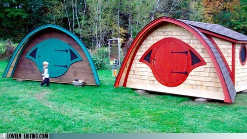 hobbit hole hut prefab shack - 5981458688