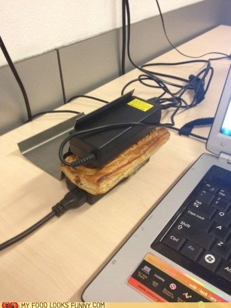 computers,cook,power adapters,sandwich,warm