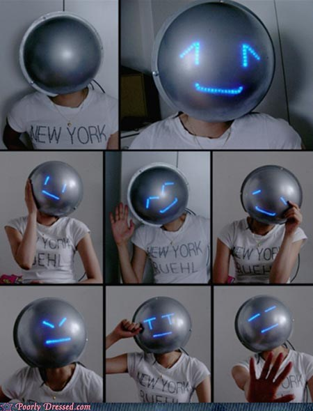 creepy,electronic,emoticon,emoticon mask,mask,new york