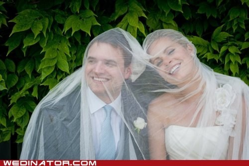 bride,funny wedding photos,groom,veil