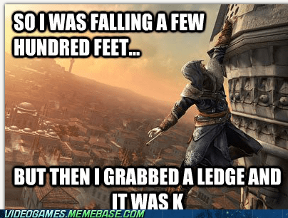 assassins creed,grabbed a ledge,hookblade,k,parkour,the internets