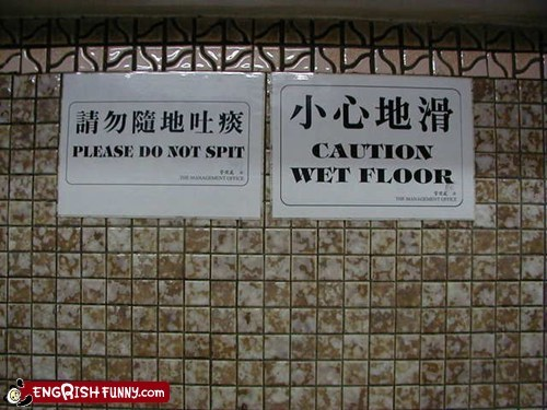 bathroom caution sign spit toilet wet floor - 5982087680