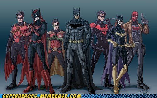 Awesome Art batgirl batman batwoman family robin - 5982133760