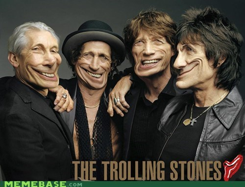 cool face,meme madness,rolling stones,troll face