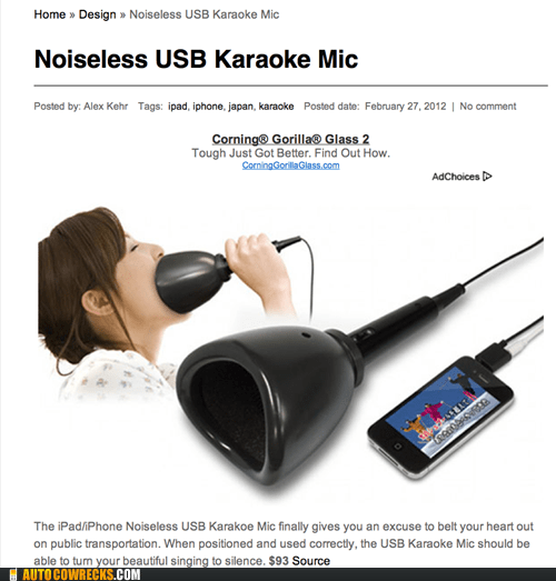 AutocoWrecks gadget karaoke singing - 5982200064