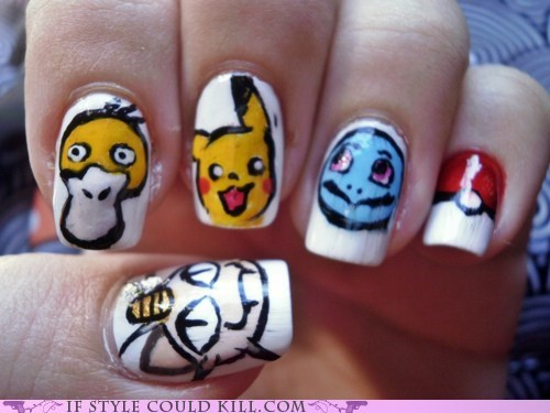 best of the week,cool accessories,nail art,nails,Pokémon