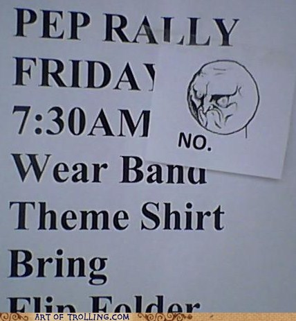IRL no pep rally rage faces - 5982354688