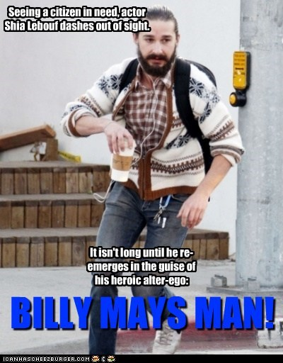actor Billy Mays celeb funny hipster shia labeouf - 5982537728