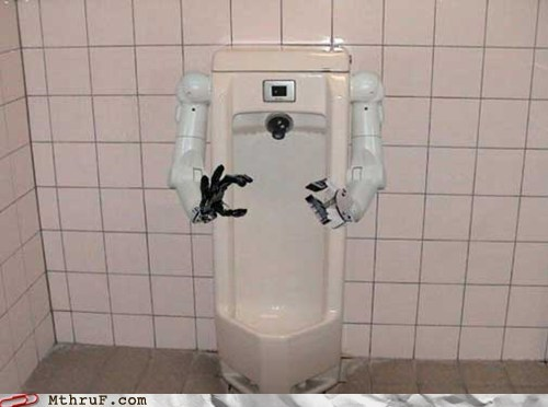 arms,bathroom,robot,robot arms,toilet,urinal