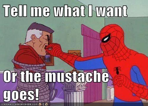 mustache,Spider-Man,Super-Lols,wtf