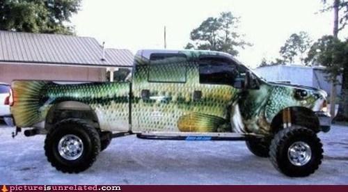 fish fishing paint truck - 5983250176