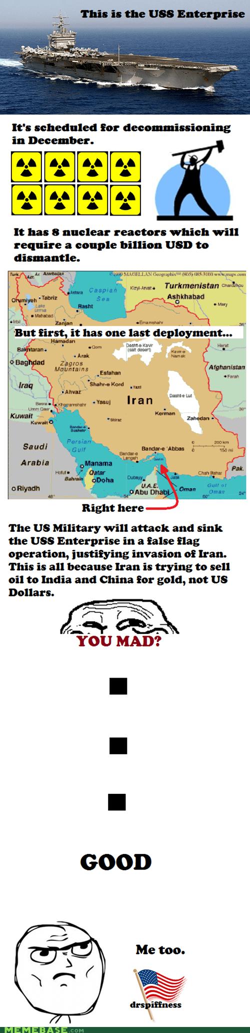 america enterprise government iran nuclear Scumbag Steve - 5983980288