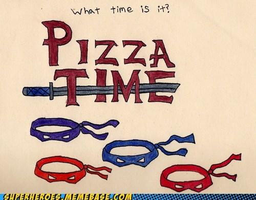 Awesome Art pizza time TMNT - 5984058624