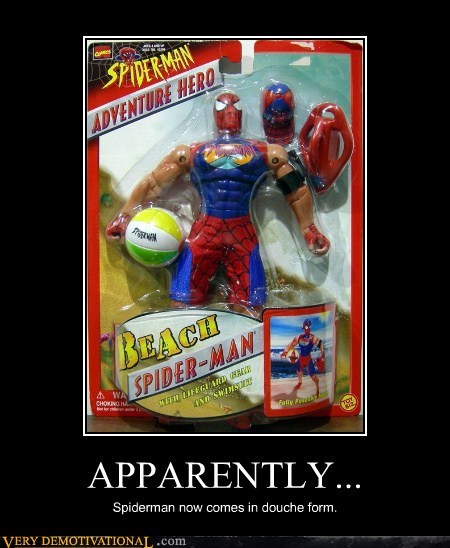 beach douche hilarious Spider-Man wtf - 5984089088