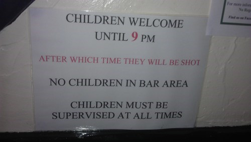 alcohol bar children drinking