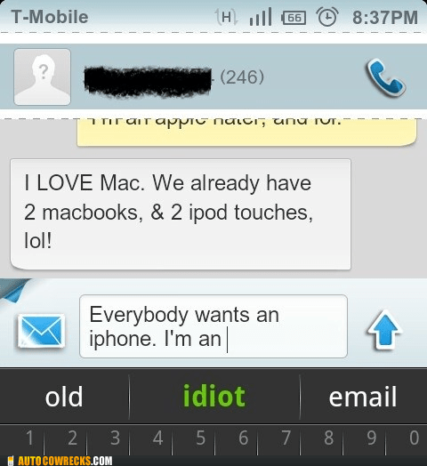 android,auto complete,idiot,iphone