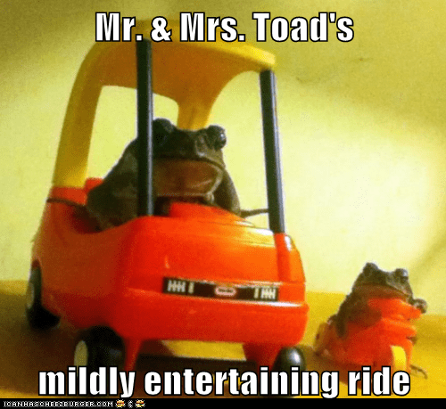 amusement park entertaining frogs mildly mr-toad mr-toads-wild-ride toy cars - 5984991488