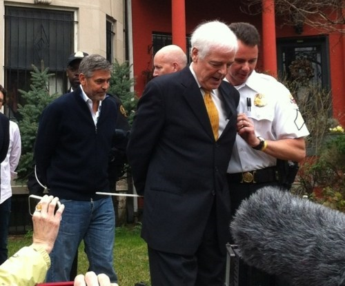 george clooney Handcuffed Celebrity Sudan - 5985008896
