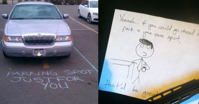 douche passive agressive cars angry notes funny parking - 5985541