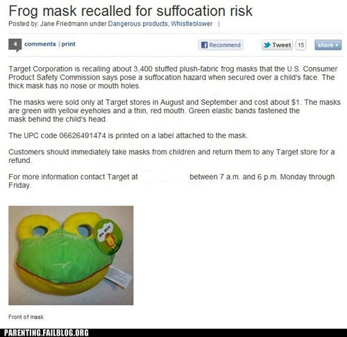 costume frog mask - 5985577216