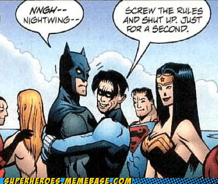 batman hugs nightwing rules Straight off the Page wonder woman - 5985579520