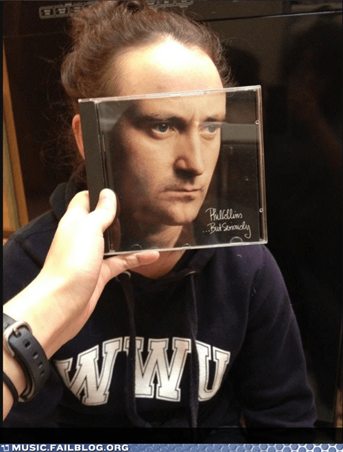album cover album face but seriously Phil Collins - 5985795840