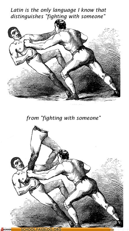 class is in session english fighting with someone language latin - 5985926912