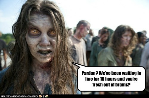 brains The Walking Dead waiting zombie - 5986120704