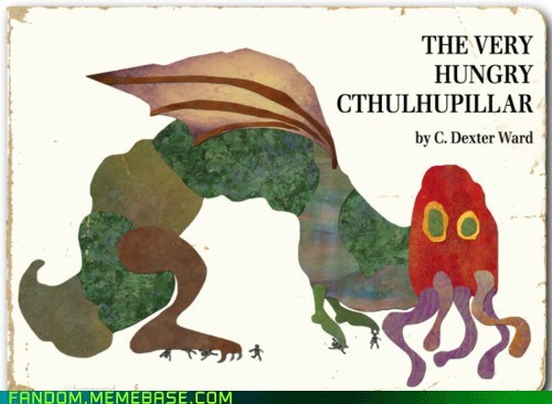 books,crossover,cthuluhu,Fan Art,the very hungry caterpillar