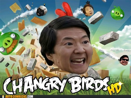 angry birds,community,pun,senor chang,television,TV