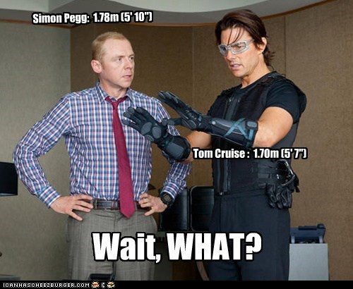 actor celeb funny Simon Pegg Tom Cruise - 5986184704