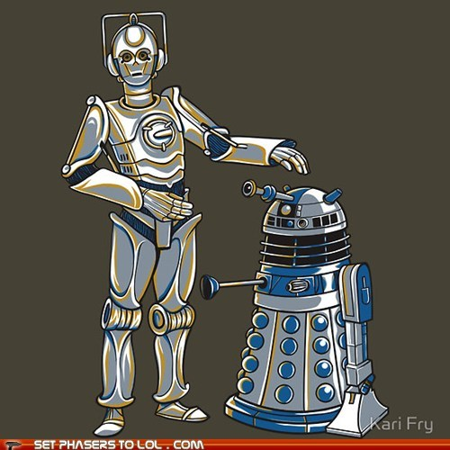 best of the week,c3p0,cyberman,dalek,mashup,r2d2,star wars