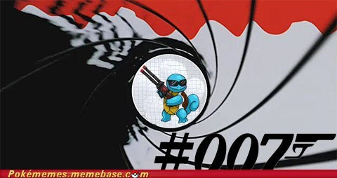 007 crossover james bond meme squirtle - 5986303744