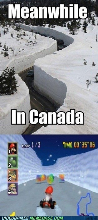 Canada frappe snowland IRL Mario Kart - 5986384384