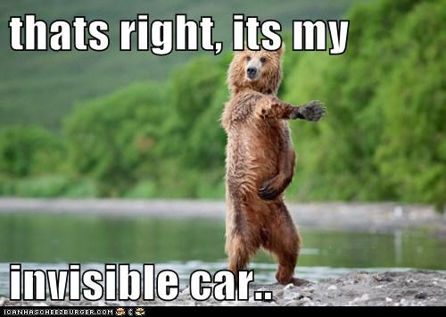 thats right, its my invisible car..
