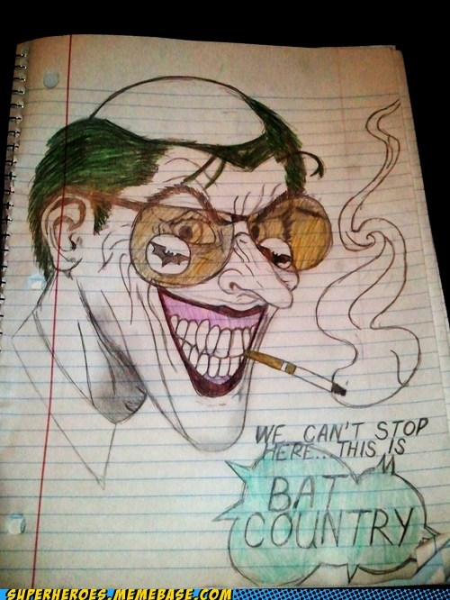 Awesome Art bat country Hunter S Thompson joker - 5986539520