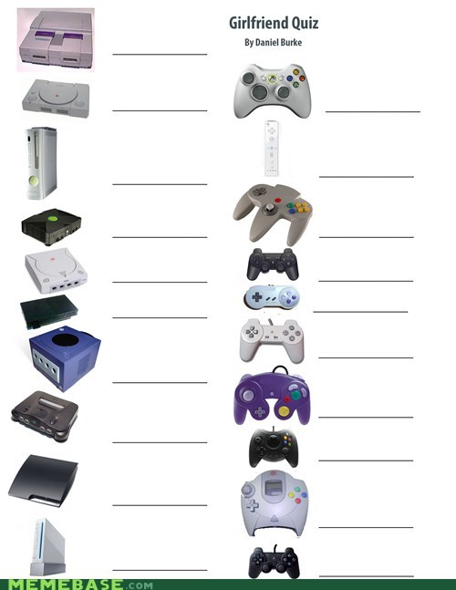 controllers,deal breaker,girlfriend quiz,systems,the internets,video games,wean