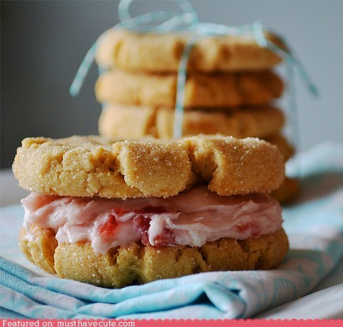 cookies epicute filling jam peanut butter sandwiches sweets - 5986807296